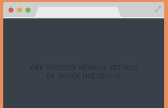 flat chrome browser