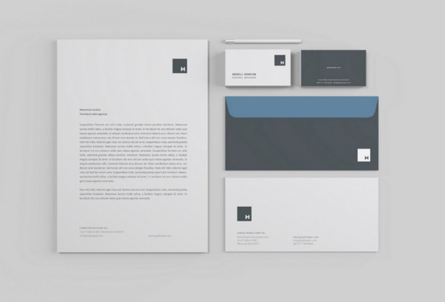 grey stationery
