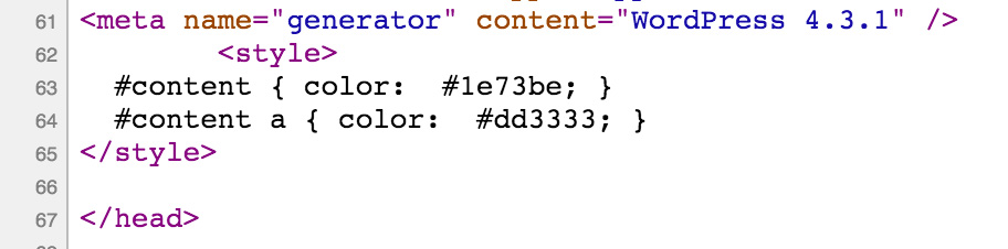 Inline CSS