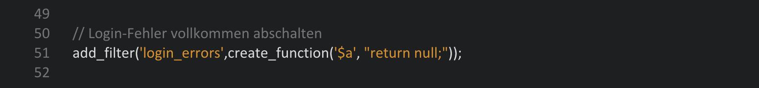 login errors