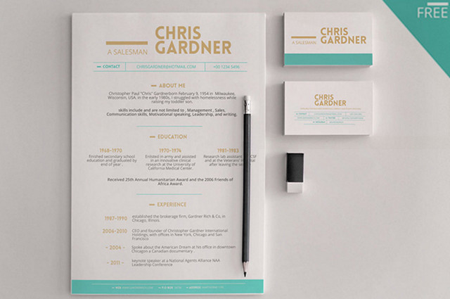 Best of 2015 100 free business cards resumes cvs corporate minimalistic resume colourmoves