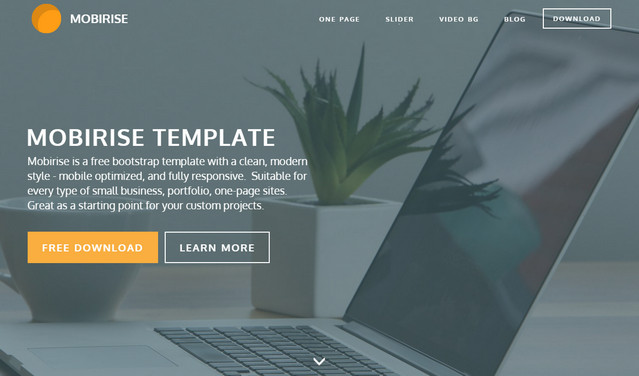 one page template