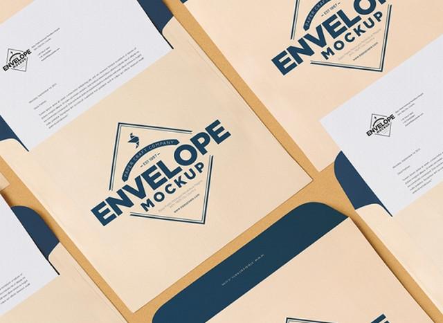pastel envelope