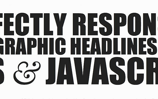 Perfectly responsive headlines with CSS and Javascript