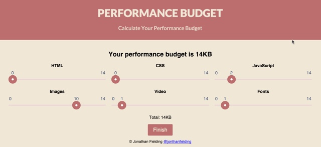 performance budget free online tool for page optimization