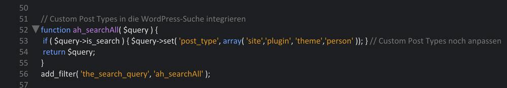 Custom Post Types in die Suche integrieren