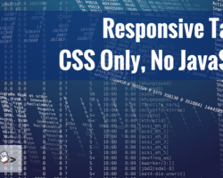 Responsive Tables: CSS Only, No JavaScript