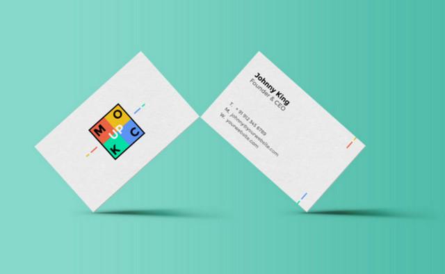 white b-card