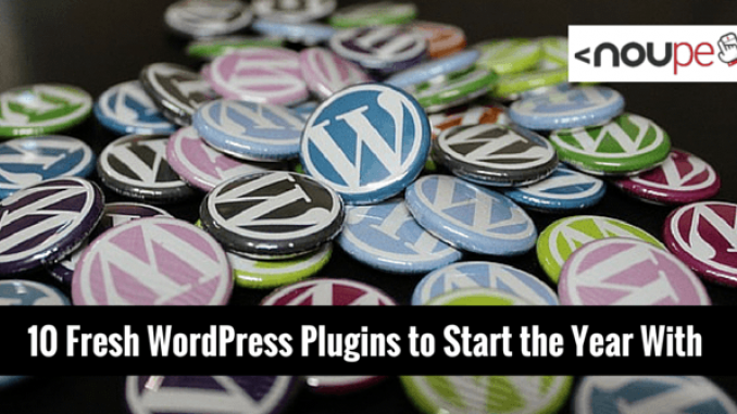10 Fresh WordPress Plugins to Start the Year With