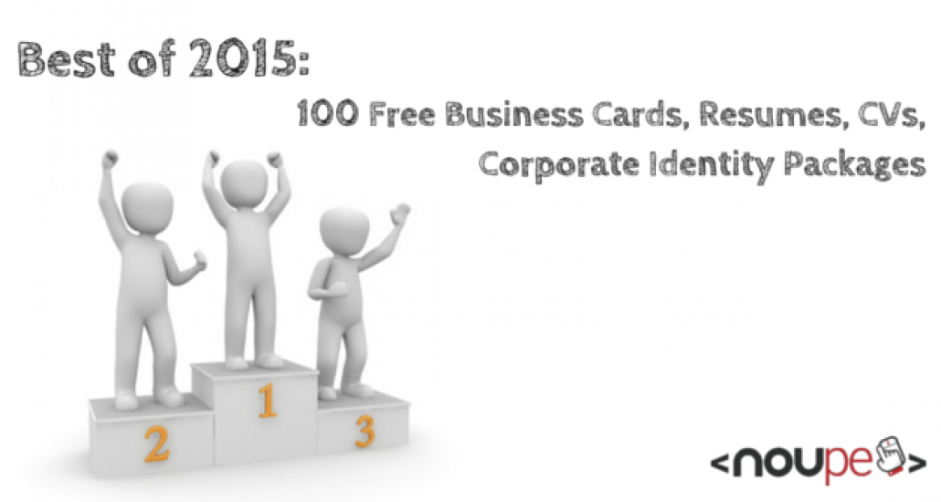 Best of 2015: 100 Free Business Cards, Resumes, CVs, Corporate ...