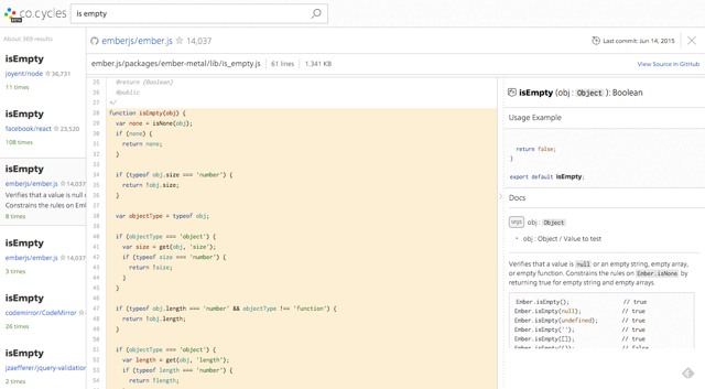 Co.cycles, the Search Engine for Open Source Code