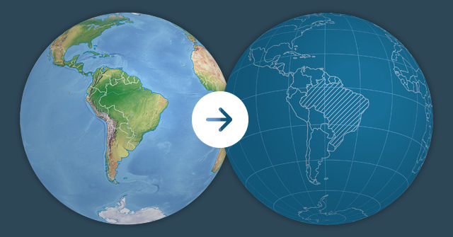 Make a globe in blueprint-style in a matter of minutes