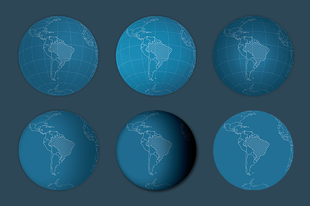 Create several variations of the same globe with just a few clicks