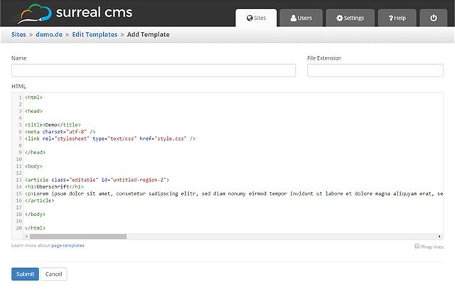 surreal-cms_templates