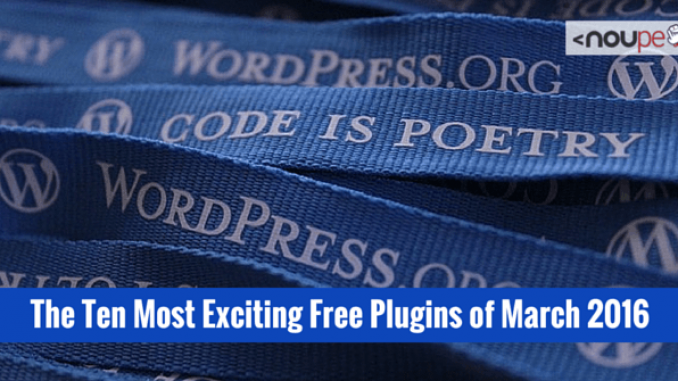 The Ten Most Exciting Free Plugins of March 2016