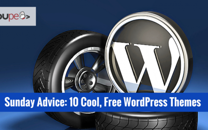 sunday advice 10 cool free wordpress themes noupe