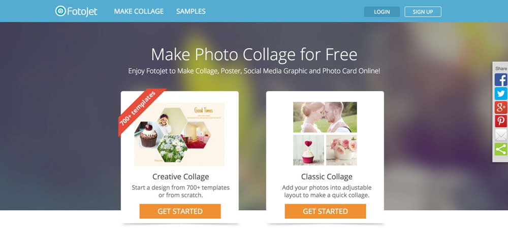 FotoJet: Online Service for Collages and Social Media | NOUPE