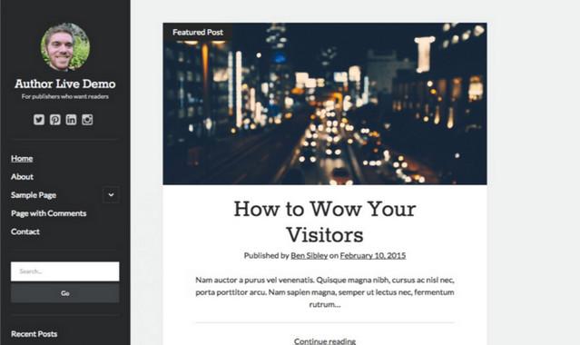 author blog theme
