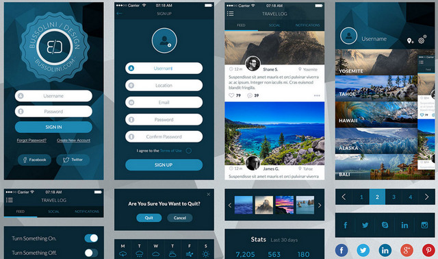 blueish travel ui
