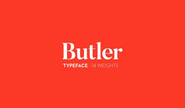 Butler Font