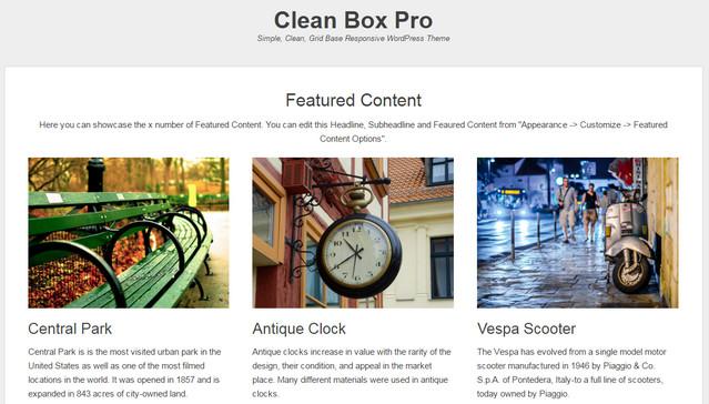clean box theme