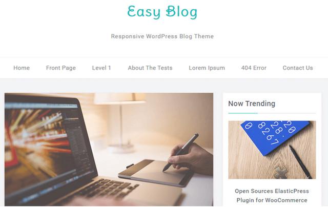 easy blog theme