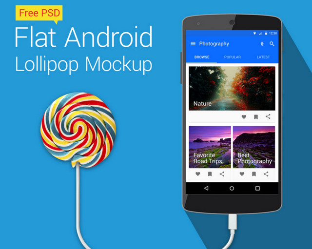 flat android lollipop