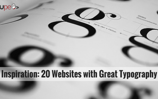 Inspiration: 20 Websites with Great Typography