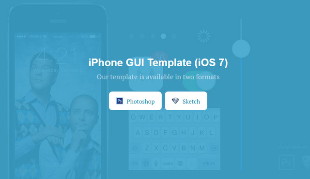 iphone gui template