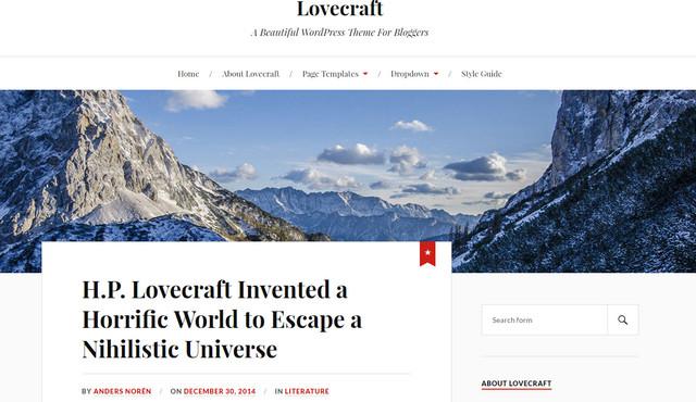 lovecraft theme