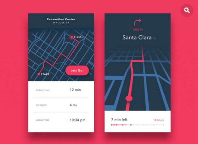 maps mobile ui