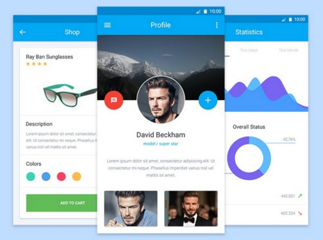 material design mobile ui