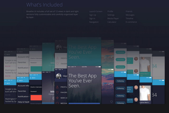 mobile ui kit for app