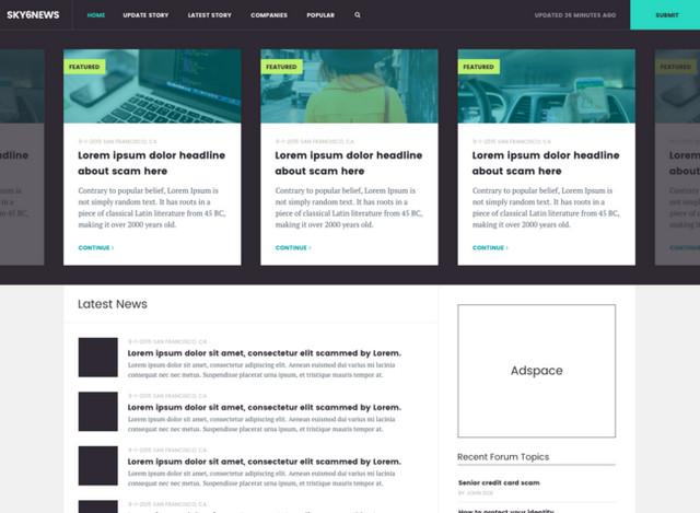 news site template