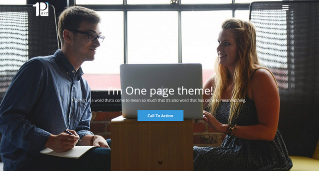 one page theme