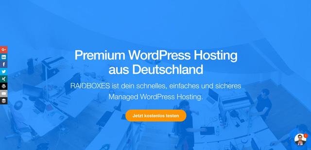 Raidboxes - Premium WordPress Hosting aus Deutschland