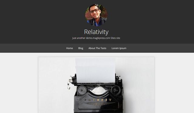 relativity theme