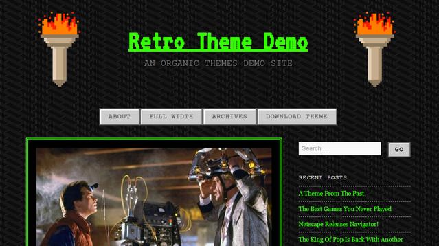 retro theme