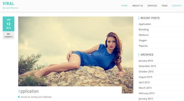 viral - blog theme