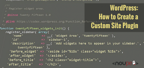 WordPress: How to Create a Custom Site Plugin