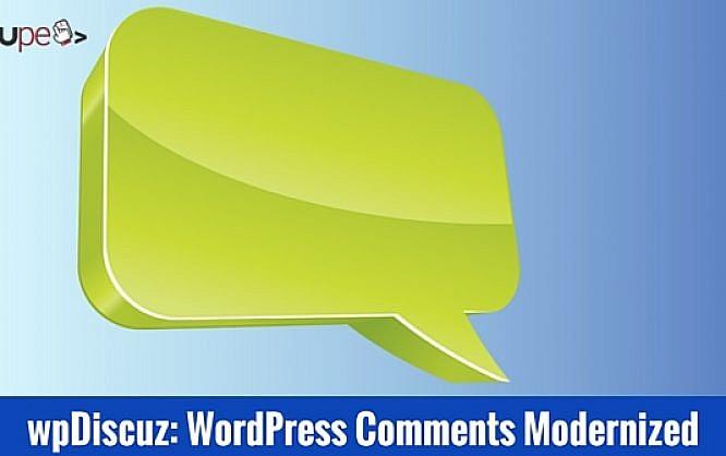 wpDiscuz: WordPress Comments Modernized