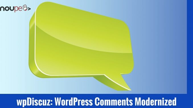 wpDiscuz: WordPress Comments Modernized