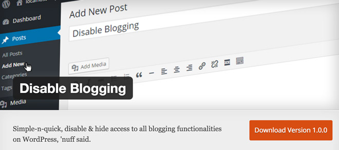 Disable-Blogging