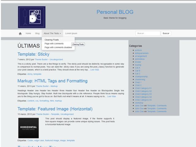 WordPress Theme-Verzeichnis Beispiel 3