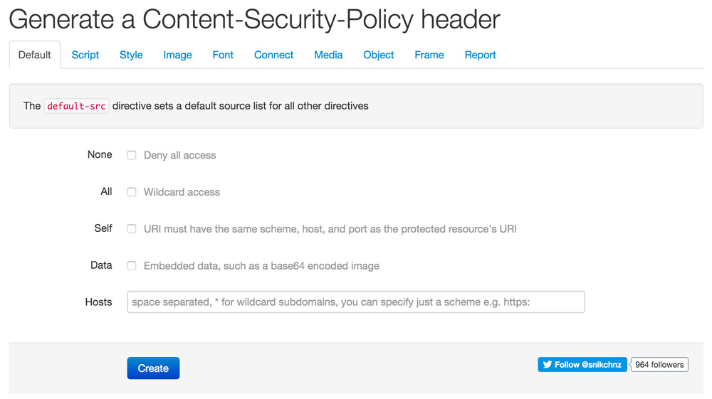 content-security-policy-generator