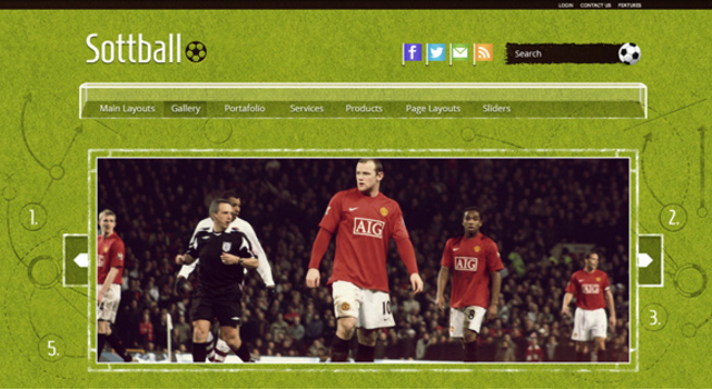 Cool Soccer Blog WordPress Theme