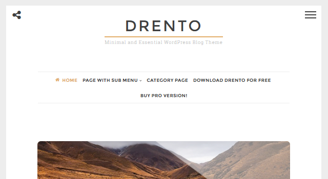 Drento: WordPress Theme - CrestaProject
