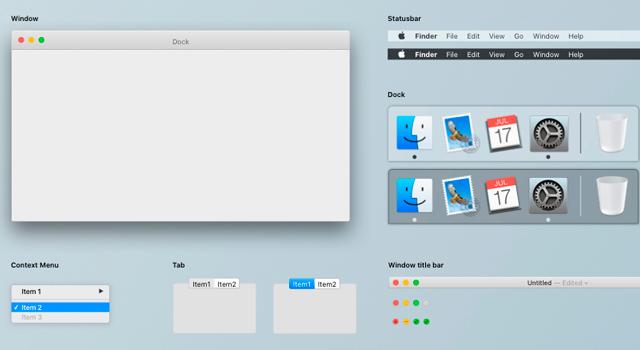El Capitan: Minimal OSX UI Kit