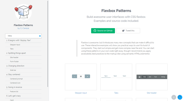 http://www.noupe.com/wp-content/uploads/2016/05/flexbox-patterns-landingpage.png