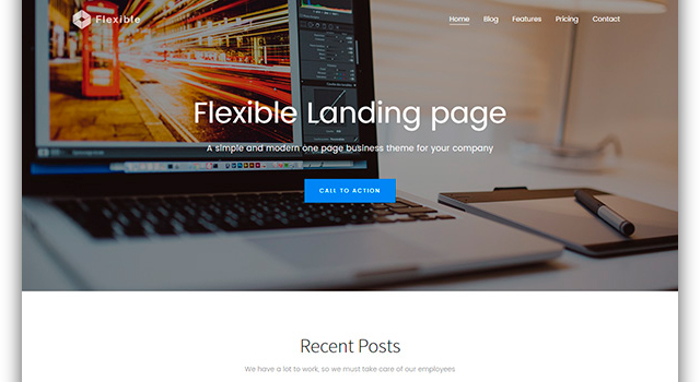 Flexible: Responsive One-page Bootstrap Theme